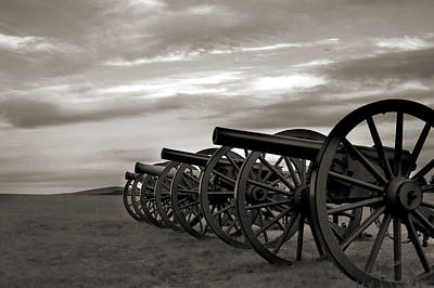 Photograph - Cannon At Antietam Black And White by Judi Quelland