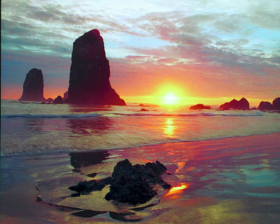 Cannon Beach Oregon Original by Forrest Ray