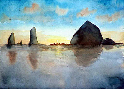 Painting - Cannon Beach Sunset by Chriss Pagani