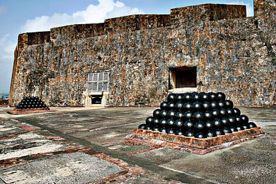 Barbed Wire Wall Art - Photograph - Fort San Cristobal, Cannon Embrasures, by Gilbert Artiaga