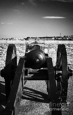 Cannon On Church Bastion Facing Out On The 17th Century Walls Of Derry City Art Print by Joe Fox