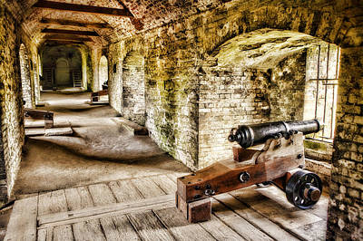 Cannons Of Dover Print by Wendy White