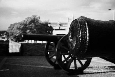 Cannons On The Mall Wall And Double Bastion Section Of Derrys City Walls Art Print by Joe Fox