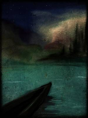 Canoe Digital Art - Canoe by Betsey Walker Culliton