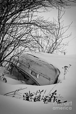 Photograph - Canoe Hibernation by Mark David Zahn Photography