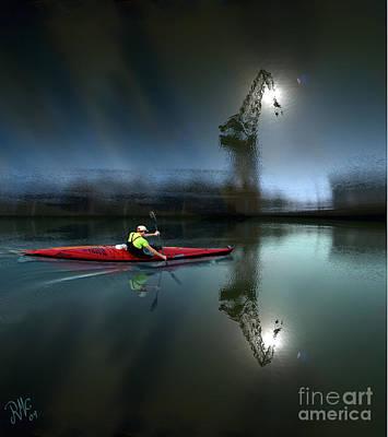 Canoe Digital Art - Canoe Travelling Dream by Rosa Cobos