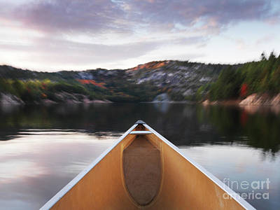 Killarney Provincial Park Photograph - Canoeing In Ontario Provincial Park by Oleksiy Maksymenko