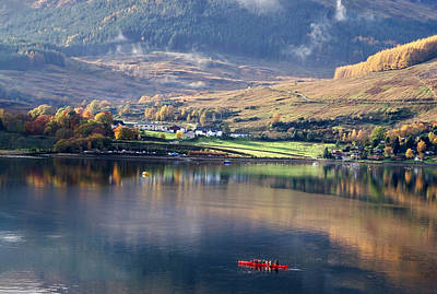 Art Print featuring the photograph Canoeing On Loch Goil by Lynn Bolt
