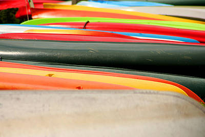 Photograph - Canoes by Emanuel Tanjala