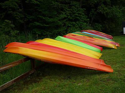 Canoes  Print by Pamela Turner