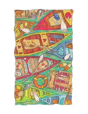 Canoes Print by Pete Cochrane