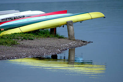 Photograph - Canoe's Reflection by Emanuel Tanjala