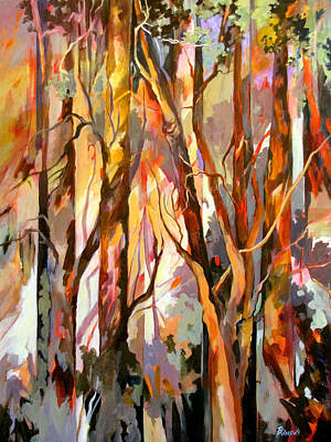 Art Print featuring the painting Cant See The Forest For The Trees by Rae Andrews