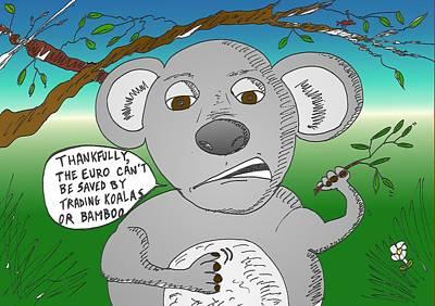 Koala Mixed Media - Can't Trade Koala Or Bamboo by OptionsClick BlogArt