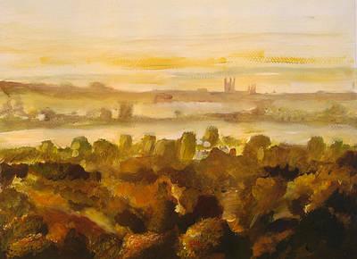 Canterbury Autumnal Haze Art Print by Paul Mitchell