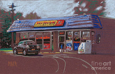 Canton Painting - Canton Package Store by Donald Maier