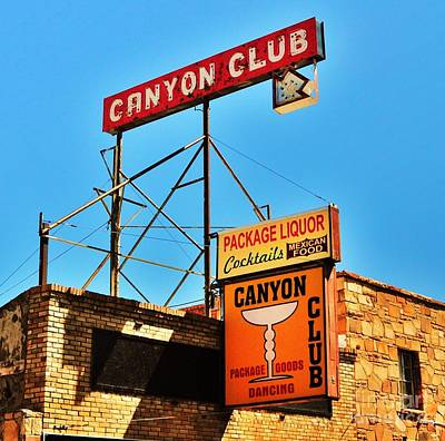 Canyon Club Route 66 Williams Arizona Art Print by George Sylvia