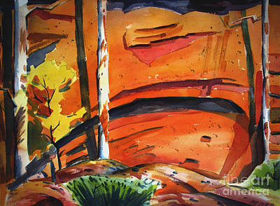 Wet On Wet Painting - Canyon Cull De Sac IIi by Charlie Spear