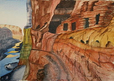 Art Print featuring the painting Canyon De Chilly by Teresa Beyer