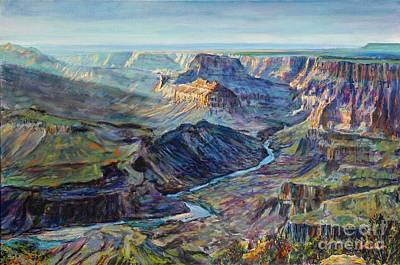 Painting - Canyon Light At Watchtower by LeRoy Jesfield