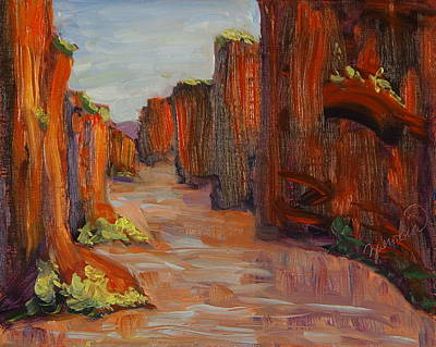 Painting - Canyon Walls Colorado River Moab Utah by Zanobia Shalks