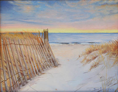 Cape Cod Painting - Cape Beach by Sue Birkenshaw