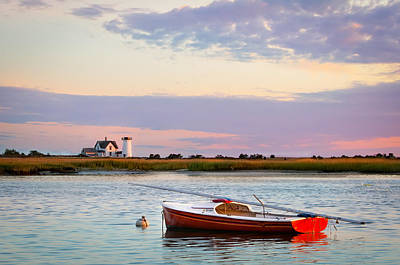 Cape Cod Lighthouse Art Print by Betty Wiley