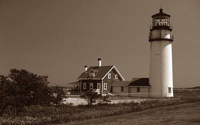 Landmarks Royalty Free Images - Cape Cod Lighthouse Royalty-Free Image by Skip Willits
