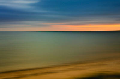 Abstract Seascape Photograph - Cape Cod Sunset- Abstract  by Thomas Schoeller