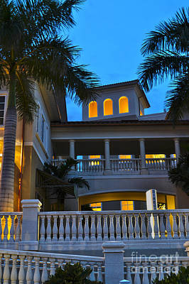 Art Print featuring the photograph Cape Coral Florida Architecture by Timothy Lowry