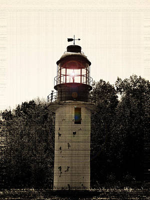 Cape Look Out Photograph - Cape Crocker Lighthouse 2 by Cyryn Fyrcyd