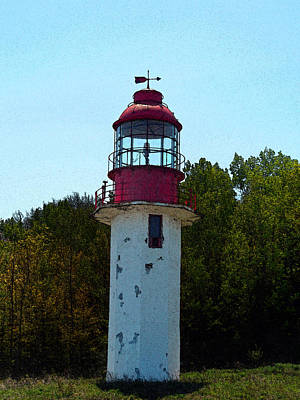 Cape Look Out Photograph - Cape Crocker Lighthouse by Cyryn Fyrcyd