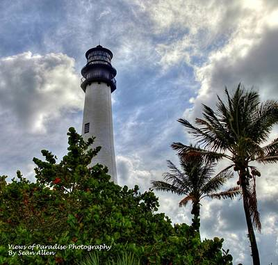 Photograph - Cape Florida Light House by Sean Allen