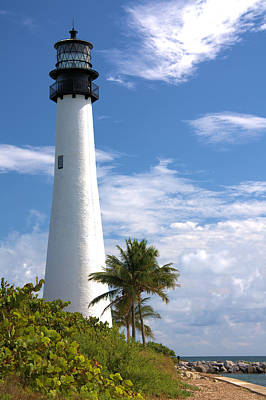Photograph - Cape Florida Lighthouse by Rudy Umans