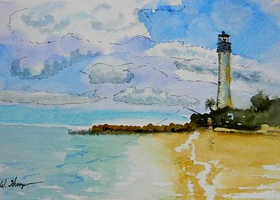 Cape Florida Lighthouse Painting - Cape Florida Lighthouse by Warren Thompson