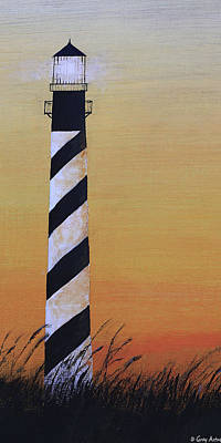 Painting - Cape Hatteras Light 2 by Gray  Artus