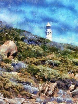 Art Print featuring the digital art Cape Leeuwin by Roberto Gagliardi