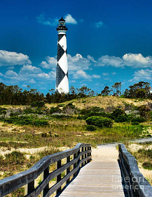 Photograph - Cape Lookout Light by Nick Zelinsky