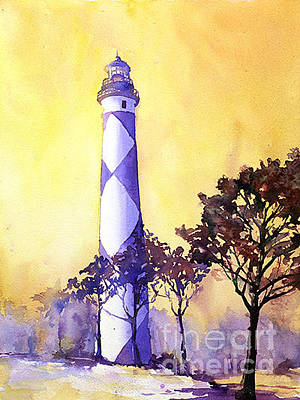 Newton Painting - Cape Lookout Lighthouse by Ryan Fox