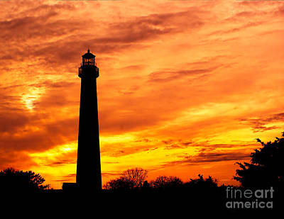 Photograph - Cape May Light Silhouette by Nick Zelinsky