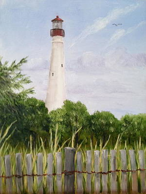 Painting - Cape May Lighthouse by Margie Perry