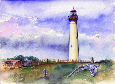 Cape May Lighthouse Noon Original by John D Benson