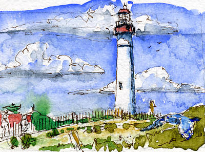 Cape May Lighthouse Study Original by John D Benson