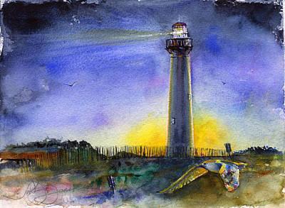 Cape May Lighthouse Sunset Original by John D Benson