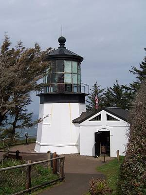 Photograph - Cape Meares Lighthouse In Oregon by Peter Mooyman