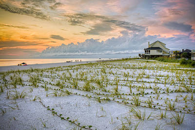 Cape San Blas Sunset Art Print by Ray Devlin