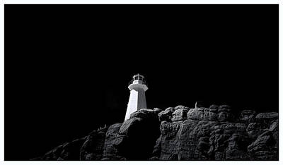 Photograph - Cape Spear - Canada - Bw by Steve Hurt