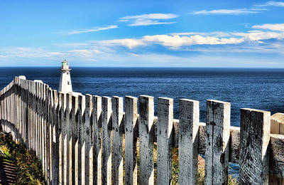 Photograph - Cape Spear Lighthouse Fence by Steve Hurt