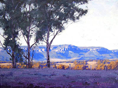 Plein Air Painting - Caperty Valley Australia by Graham Gercken