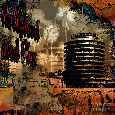 Capital Records Hollywood Art Print by Christine Mayfield